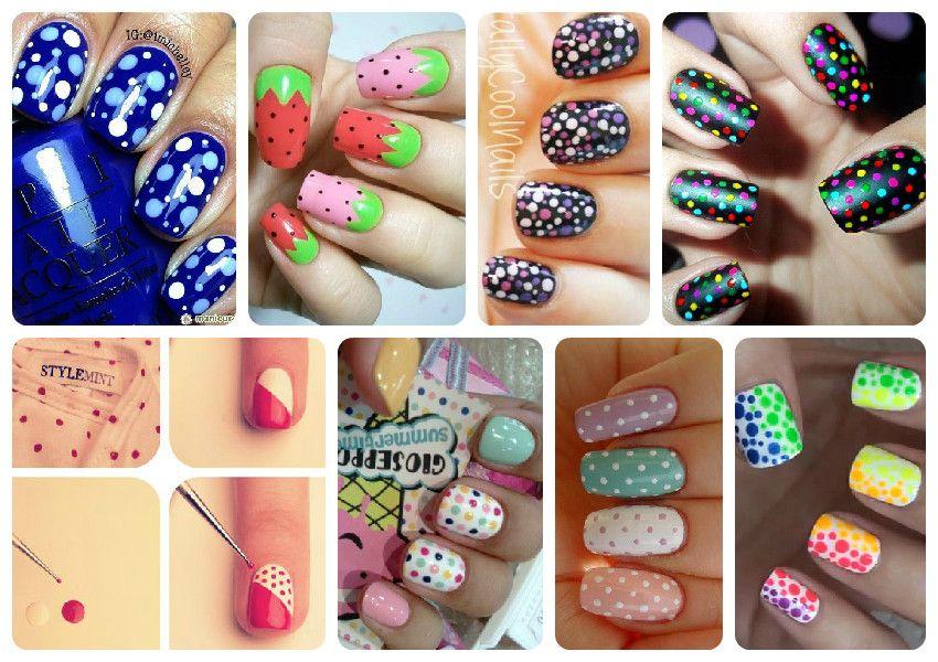 Цветной дизайн ногтей